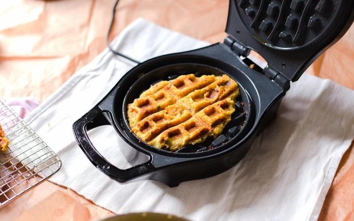Savoury Potato and Chickpea Waffles
