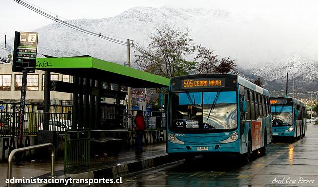 Transantiago 505 | Metbus | Caio Mondego H - Mercedes Benz / BFKB76 - 125
