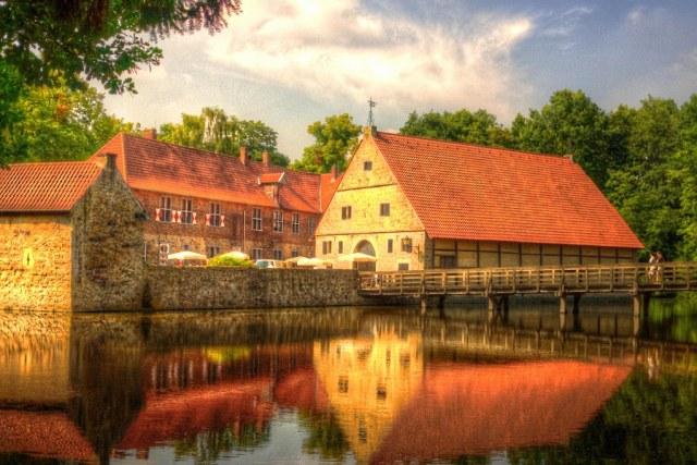 Part of Castle Vischering-Lüdinghausen-Germany