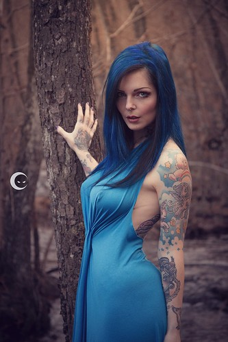 Girl New Wallpaper Hd Blue Dress In The Wood Modella Riae Suicide Flickr
