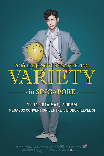"Lee Jong Suk Fanmeeting ""VARIETY"" in Singapore 2016"