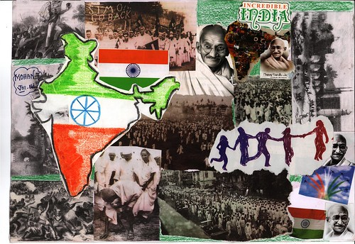 Category 2 Collage  Indian Independence and Mahatma Gand  Flickr