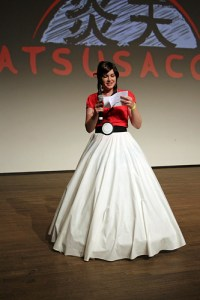 Presenter of the cosplay competition