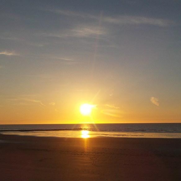 Zomer in Oostende - zonsondergang