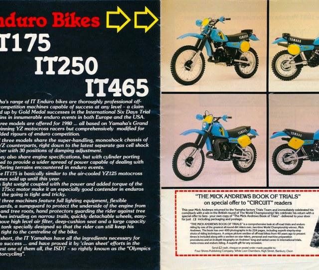 1981 Yamaha Yz And It Range Ad By Tony Blazier
