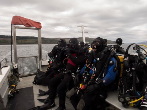 Ready to dive the Hispania Lochaline weekend May 2016