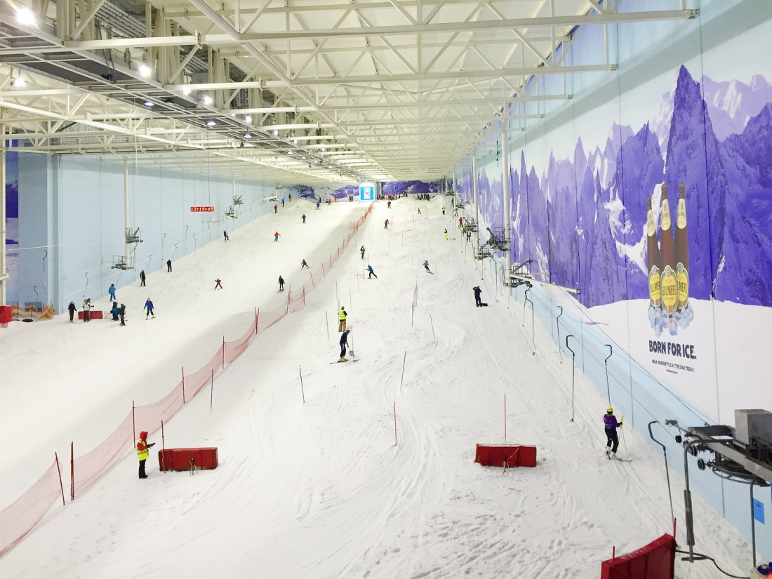 Chill Factore Main Slope Skiing