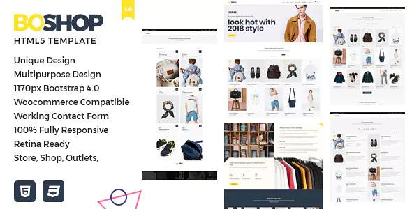 BOSHOP – MULTIPURPOSE ECOMMERCE HTML5 TEMPLATE