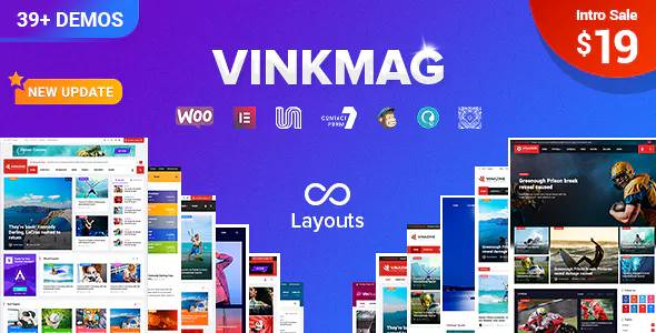 VINKMAG V1.6.1 – MULTI-CONCEPT CREATIVE NEWSPAPER