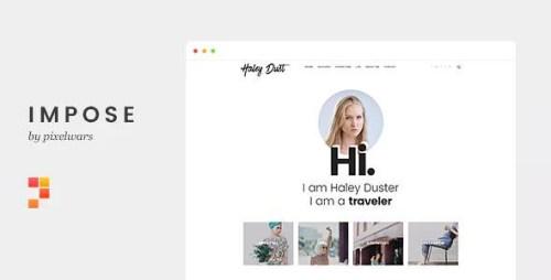 Impose Blog v1.1.1 - A WordPress Blog Theme For Bloggers