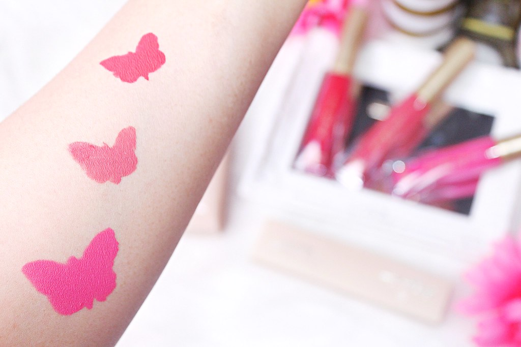 Butterfly Kisses 12 Hr Matte Liquid Lipsticks swatches
