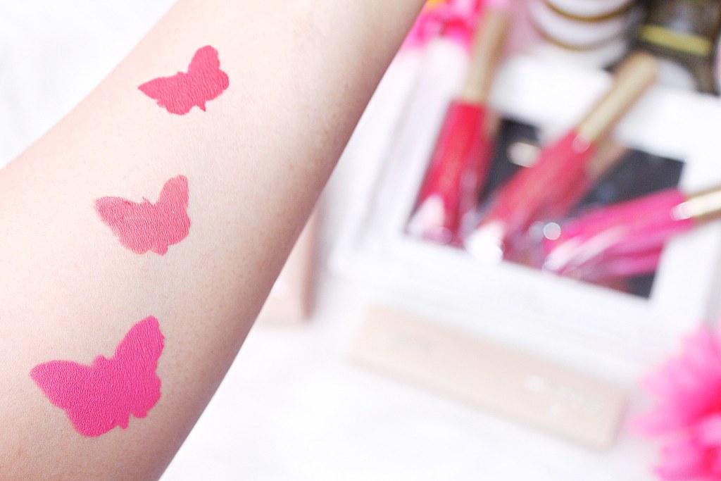 Butterfly Kisses 12 Hr Matte Liquid Lipsticks swatches