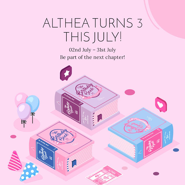 Althea Turns 3 Birthday Book