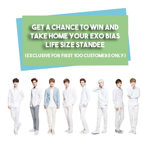 EXO BIAS LIFE SIZE STANDEE
