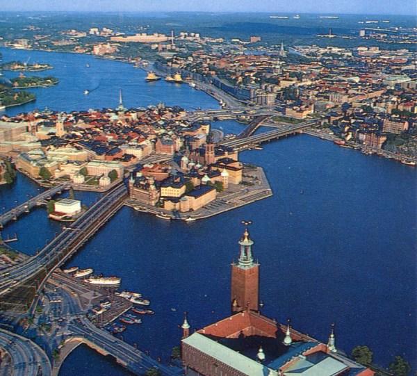 Stockholm - Gamla Stan And Slussen Air Postcard