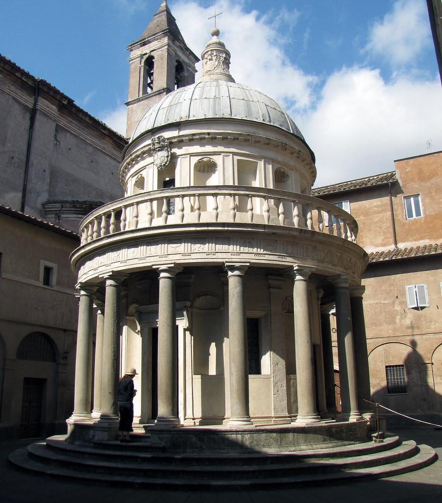 Bramante S Tempietto Oblique View With Beth Donato