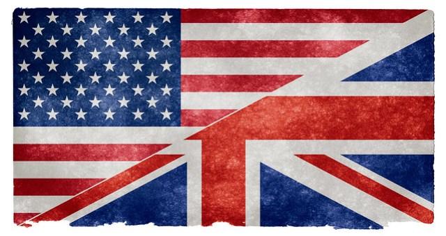 English Language Grunge Flag