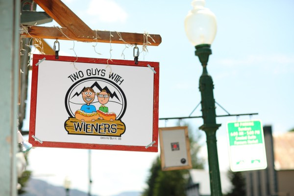 Two Guys with Weiners funny hot dog stand name I ran