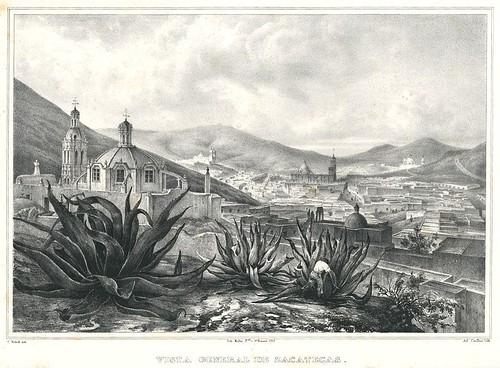 ZacatecasSan Francisco 1836  Panoramica de Zacatecas