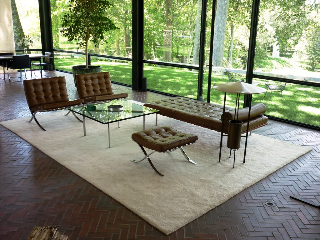 Philip Johnson Glass House JUN2012 int 1  The furniture is   Flickr