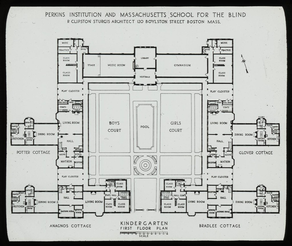 Kindergarten First Floor Plan Perkins Institution