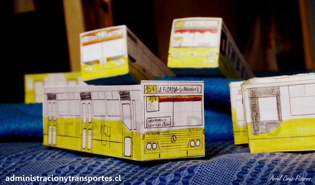 Micros Amarillas de Santiago, versión papel