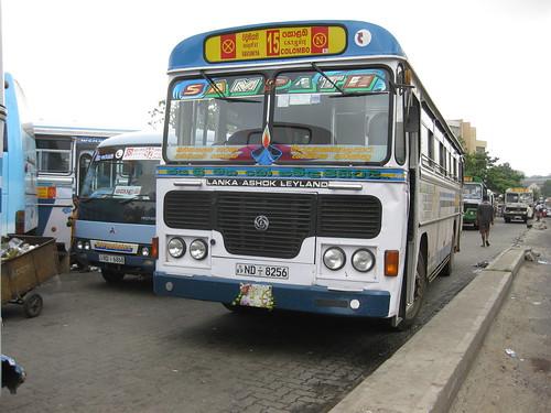 A normal service private bus.