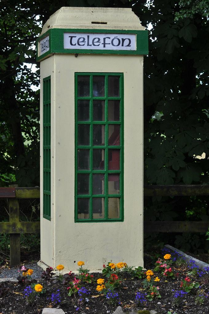 An Old Fashioned Coin Operated Irish Telephone Box Bro