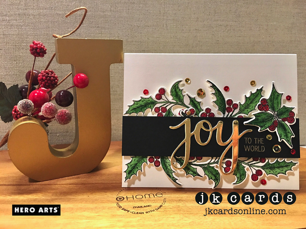 Golden Watercolor Holly Hero Arts Holly Days Stamp Amp Cut
