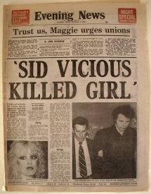 Sid Vicious Charged With Murder October 1978