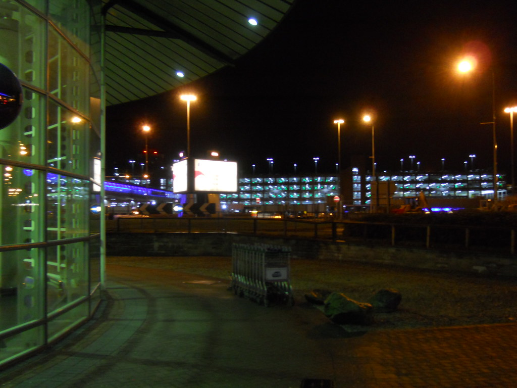 Manchester Airport At Night Taken On Saturday 3rd March