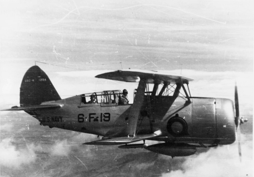 Curtiss SBC-4 Helldiver | SBC-4 of VF-6 pictured in flight o… | Flickr