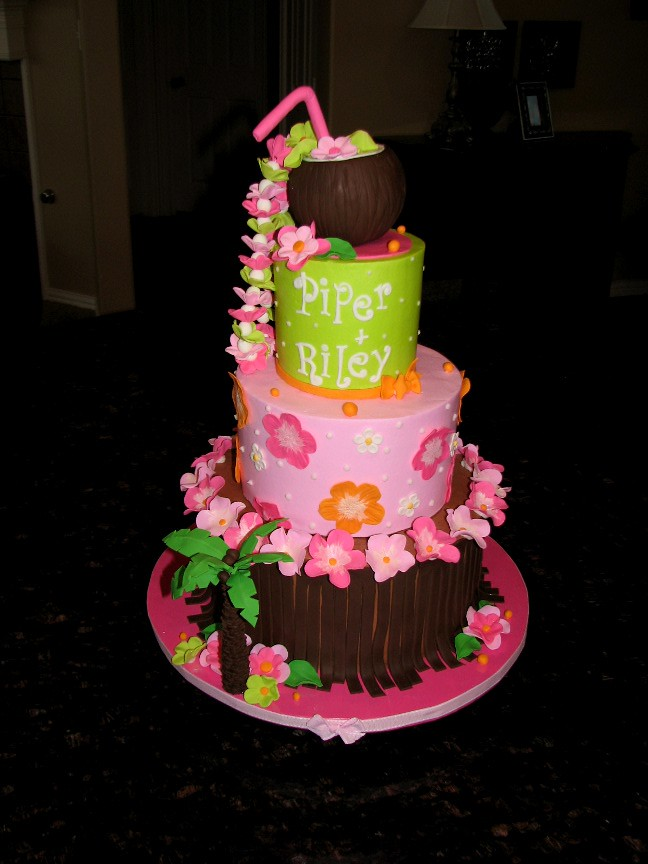 Tropical Baby Shower Cake  This is a cake that originally
