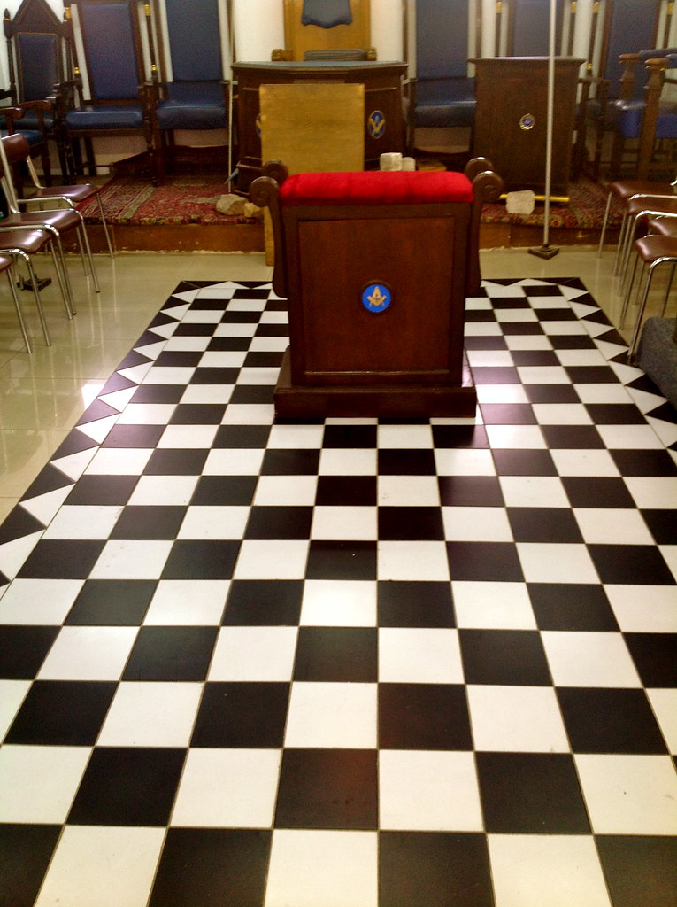 Facing the Masonic East the Indented Skirting and Mosaic