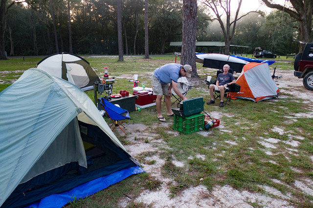 Camping at Traders Hill