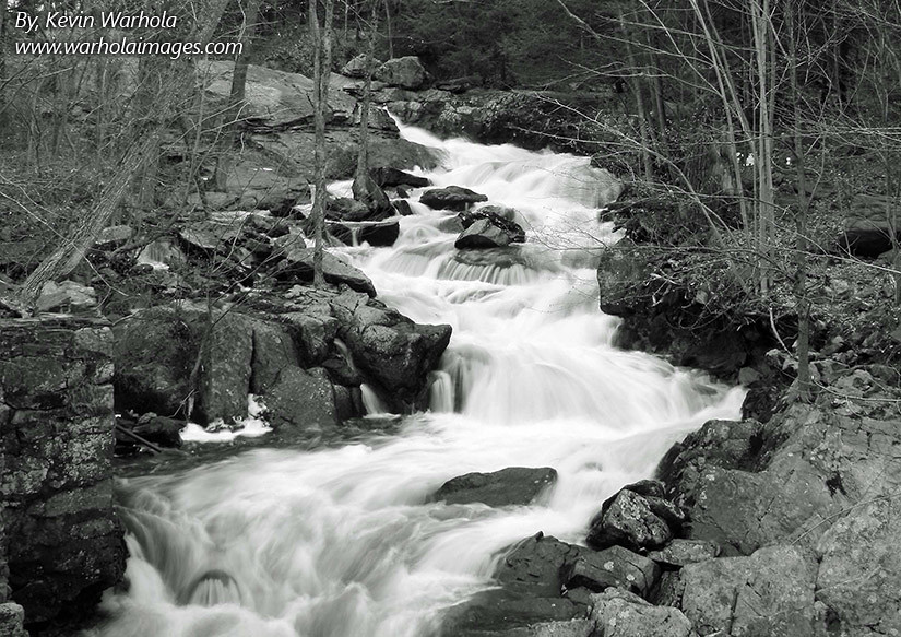 Gentle River Flowing Down Hill Blk Amp Wht This Landscape Fi Flickr