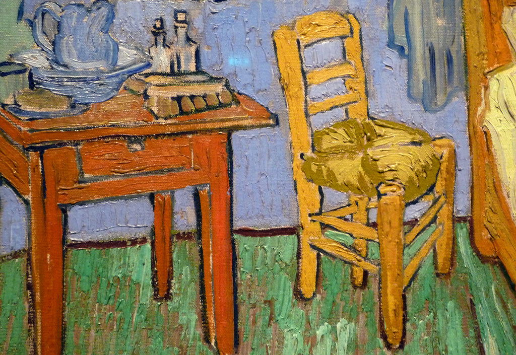 chair for bedroom medicine ball benefits van gogh, the bedroom, detail with | vincent gogh,… flickr