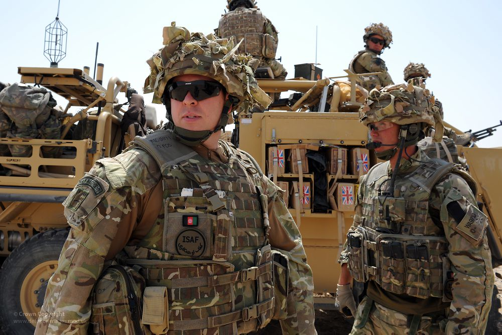 RAF Regiment Soldiers On Patrol Near Camp Bastion