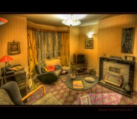1950s electric living room | A recreation of a 1950s ...