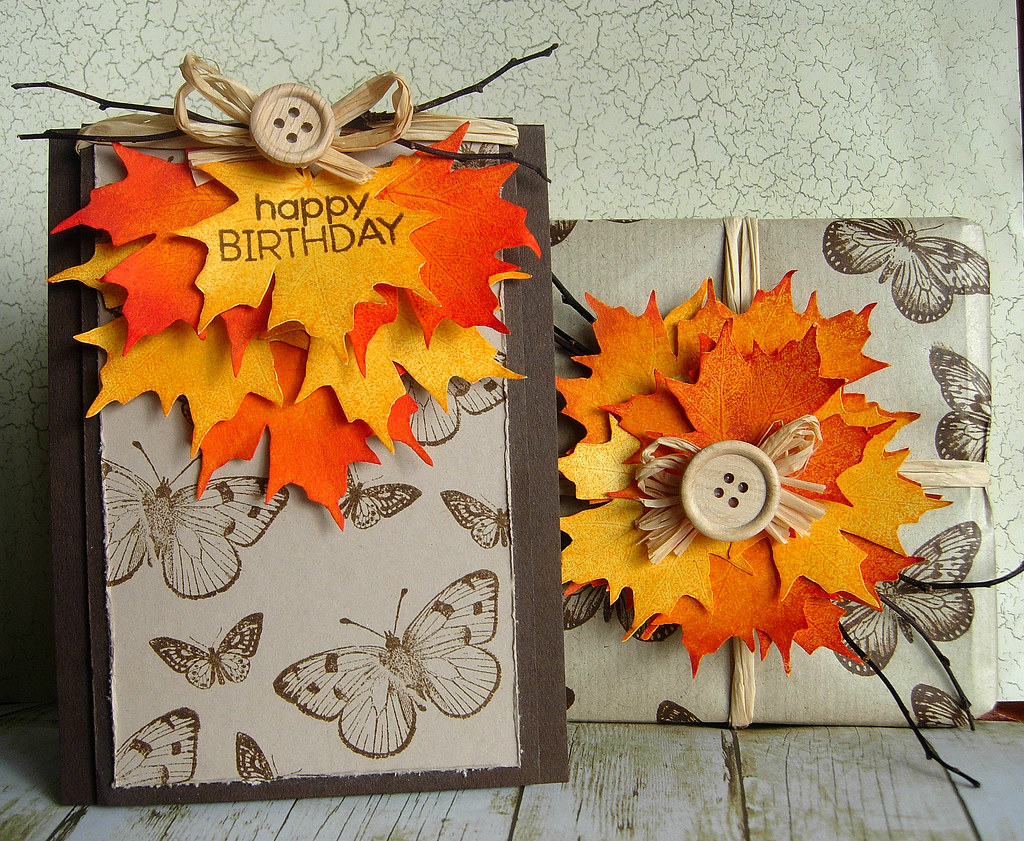 Autumn Birthday I Wanted To Make A Card And Wrap A T