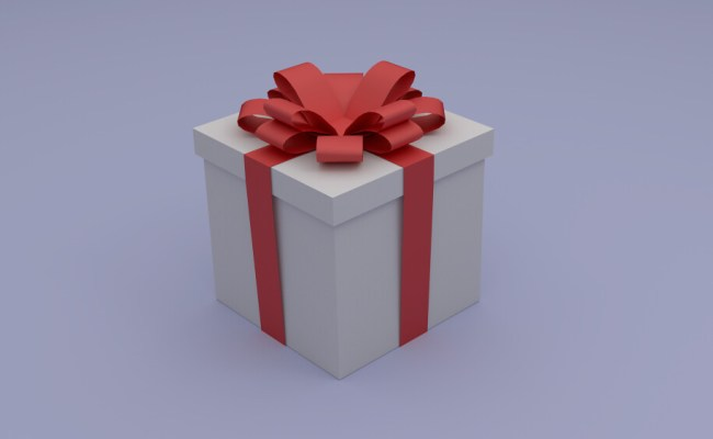 Gift Box A Gift Box Modelled And Rendered With Blender