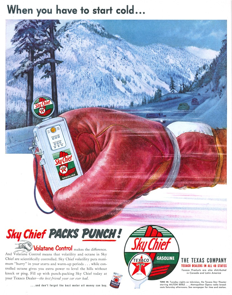 Texaco Sky Chief Gasoline - published in Look - February 10, 1953