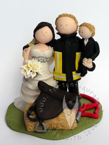 Feuerwehr Brautpaar mit Kind  Tortenfiguren  Flickr