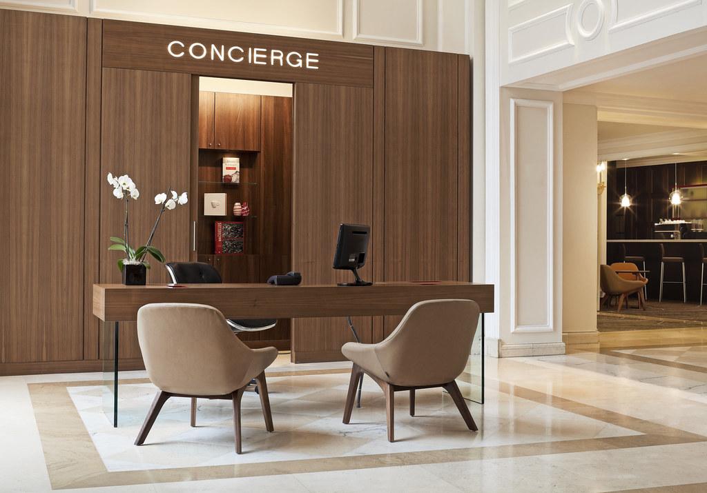 Le Meridien BrusselsConcierge Desk  Concierge Desk Lobby