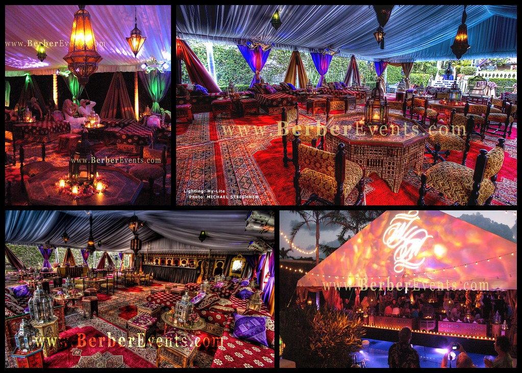Moroccan Persian Theme Wedding in a Private Mansion in Pal