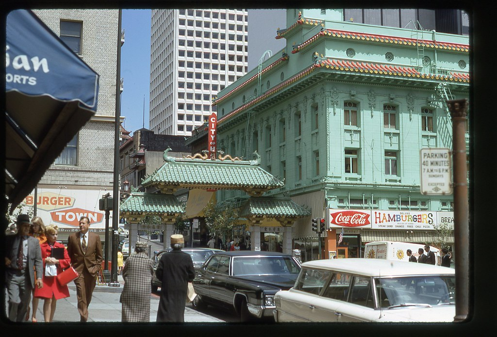 Dragon Gate SF 1970  San Francisco Chinatowns Dragon