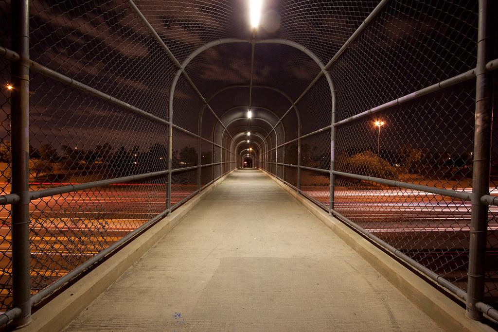 Pedestrian Bridge Over Interstate 10 At Night A Pedestrian Flickr