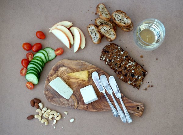 Nuts for Cheese Board Overhead | thelittleredspoon.com