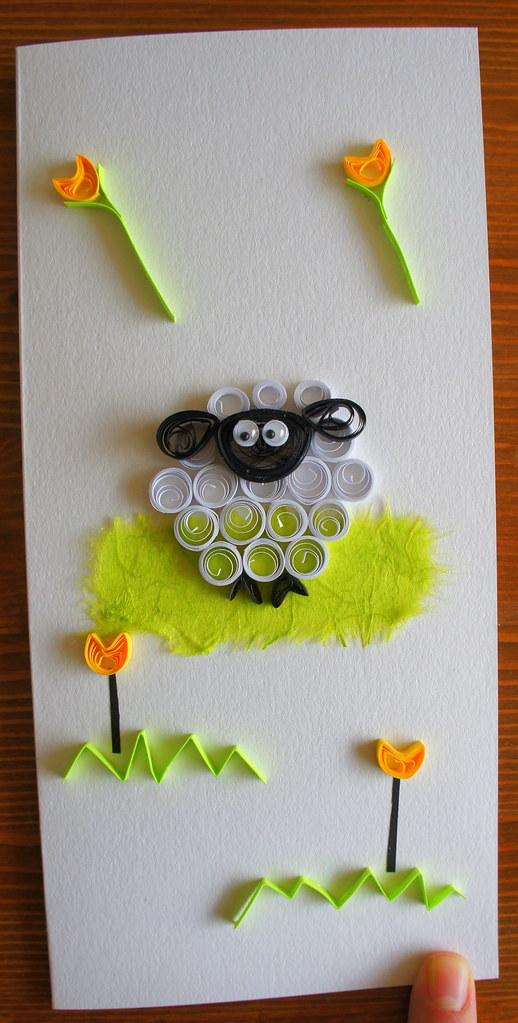 Quilled Sheep Birthday Card Handcraftforyou Com