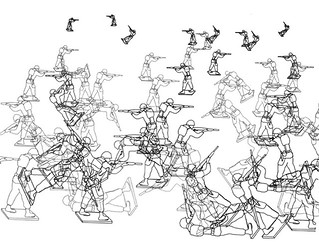 Charles Csuri, Random War, fragment (1967). Plotter drawin